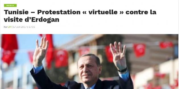 Протесты против приезда Эрдогана в Тунис
