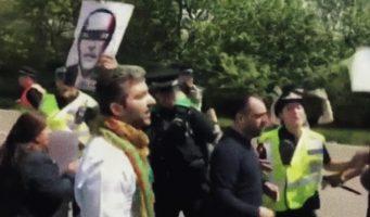 Во время протестов против Эрдогана в Великобритании пострадал один человек