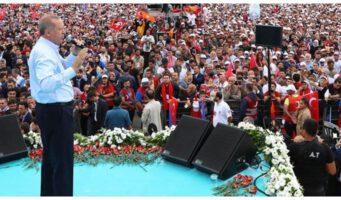 Проправительственное СМИ завысило на 1 млн количество участников предвыборного митинга Эрдогана в Стамбуле