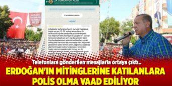 Участникам предвыборных митингов в поддержку Эрдогана и кандидатов от ПСР обещают работу в полиции