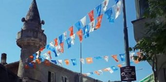 Предвыборная атрибутика ПСР на территории мечети не понравилась жителям Синопа