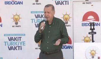 На предвыборный митинг Эрдогана в Денизли людей привезли из других районов