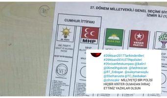 Голосовавшего за Эрдогана полицейского уволили