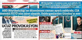 Скудоумие провластной газеты: Стрельба по посольству США в Анкаре – дело рук ЦРУ
