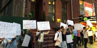 Турецкие граждане протестуют у посольств Молдовы в США и Канаде