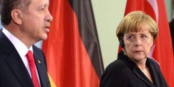 Меркель не будет участвовать в банкете в честь визита Эрдогана в Берлин