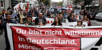 В Германии начались акции протеста против визита Эрдогана