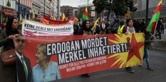В Германии протестуют против визита Эрдогана