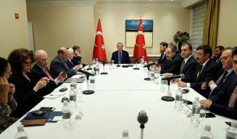 Эрдоган встретился за закрытыми дверями с представителями еврейских организаций в Нью-Йорке