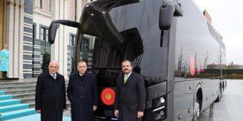 После самолета Катар подарил Эрдогану автобус