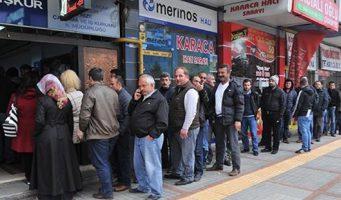 Число безработных в Турции составляет порядка 4 млн человек