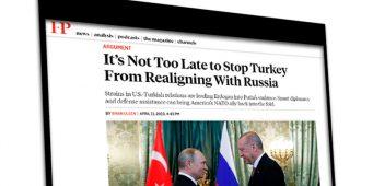 Foreign Policy: Напряжённость в отношениях США и Турции толкает Эрдогана в «объятия» Путина