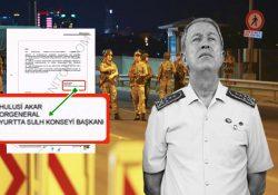 Скрытые документы о попытке переворота.  Вооруженные силы Турции: Власть в наших руках… Подпись: Хулуси Акар