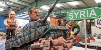 Кукольный Эрдоган на карнавале в Германии