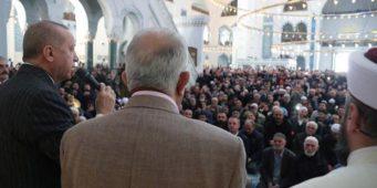 Эрдоган произнес речь в мечети: Мы прекратили войну мусульман с мусульманами