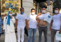 Турецкие полицейские не позволили уйгурам надеть футболки с надписью «Где моя семья?»