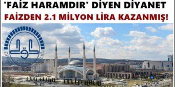 Диянет заработал на запретных процентах 2,1 млн лир