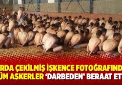 Со всех военных, запечатленных на фотографии в ангаре раздетыми и закованными в наручники, сняты обвинения в участии в перевороте