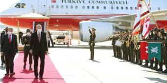 Делегация во главе с Эрдоганом полетела на Северный Кипр на шести личных самолетах