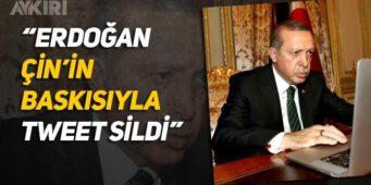 Эрдоган удалил твит под давлением Китая