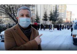 Очереди нищеты в Турции: Длинные очереди за яблоками в минус 4 градуса в Кайсери