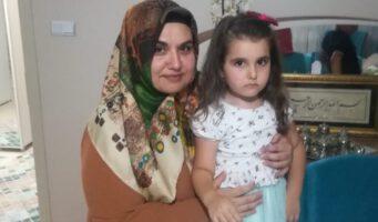 Маленькая Хафса вдали от отца 3 года, а от матери 6 месяцев