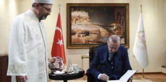 Диянет исполняет секретную миссию, порученную Эрдоганом?
