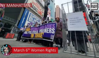 Против режима Эрдогана: На Таймс-сквер собрались защитники прав женщин в Турции