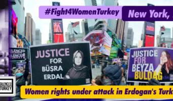 В Нью-Йорке появились реклама, привлекающая внимание к нарушениям прав человека и преступлениям против женщин в Турции