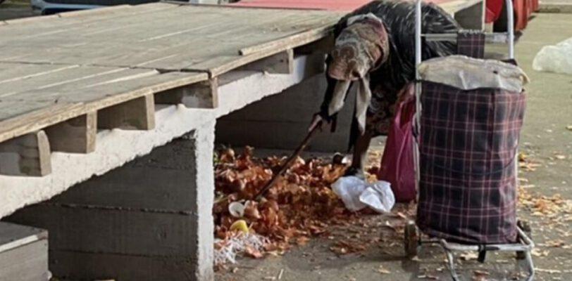 Горожане собирают остатки гнилых фруктов и овощей с рыночных прилавков