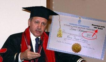Поддельный университетский диплом Эрдогана снова на повестке