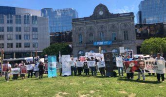 Сторонники Орхана Инанды провели митинг перед зданием Европейского парламента: Не дайте повториться делу Кашикчи