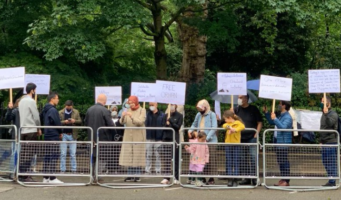 Акция у турецкого посольства в Лондоне: Проснитесь, Эрдоган похищает людей!