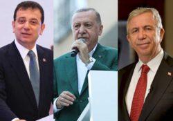 По результатам шести разных опрос Имамоглу и Яваш значительно опережают Эрдогана