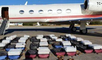 Арестован капитан бизнес-джета из Турции, на борту которого обнаружили 1,3 тонны кокаина