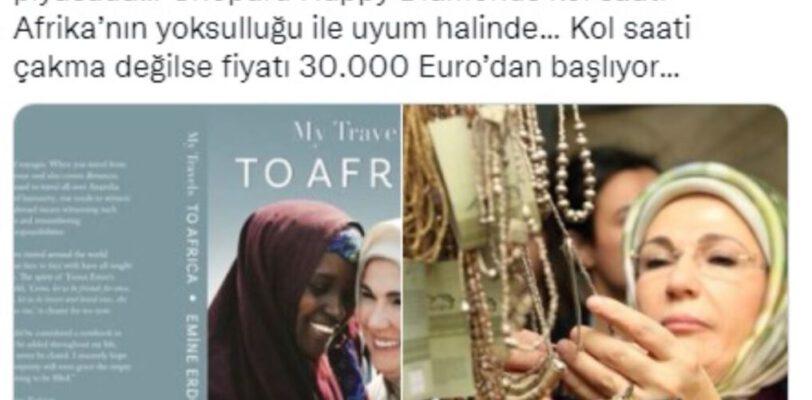 Африка и часы за 30 тысяч евро: Эмине Эрдоган представила свою первую книгу